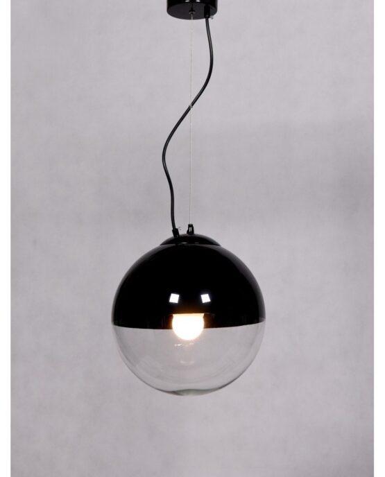 lampadario sfera vetro nero pendente 1