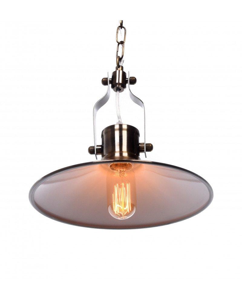 lampadario vintage industriale in ottone per appartamenti 1 test