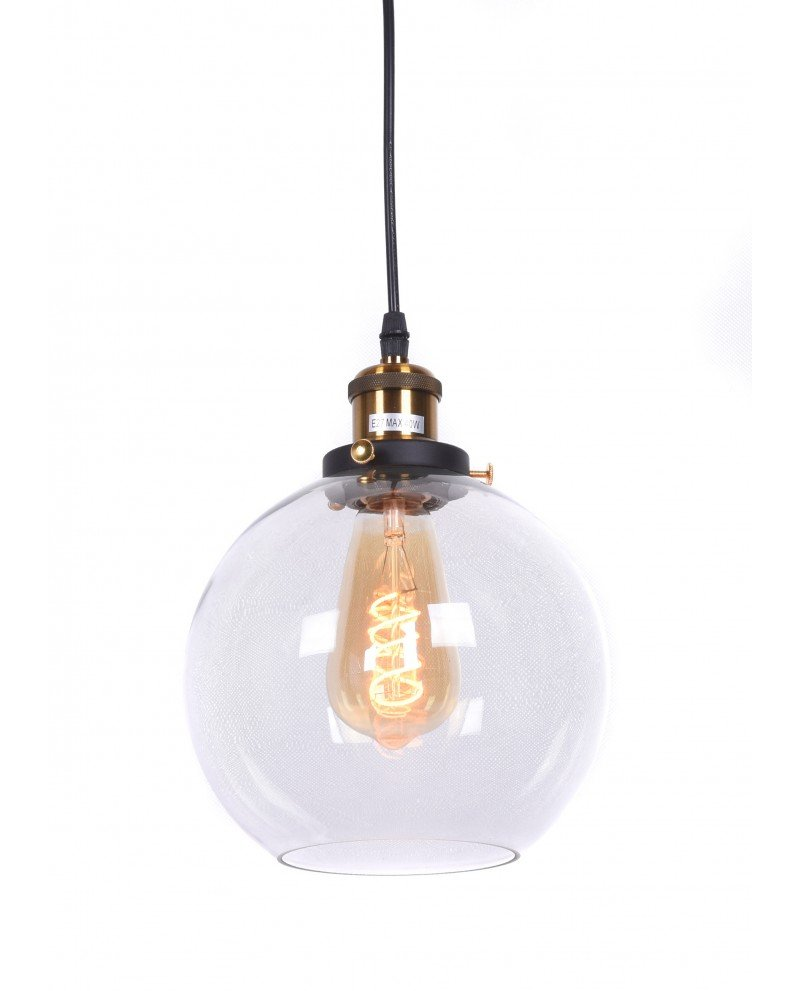 lampadario vintage navarro in vetro trasparente 12 test