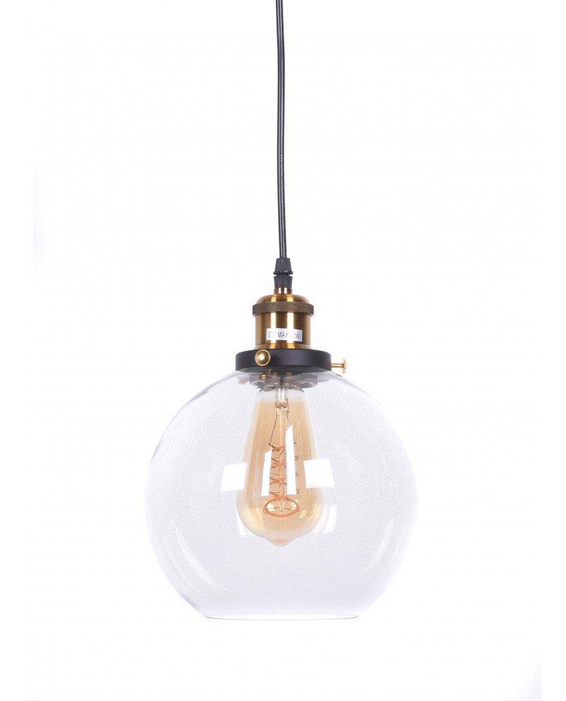 lampadario vintage navarro in vetro trasparente 121 test