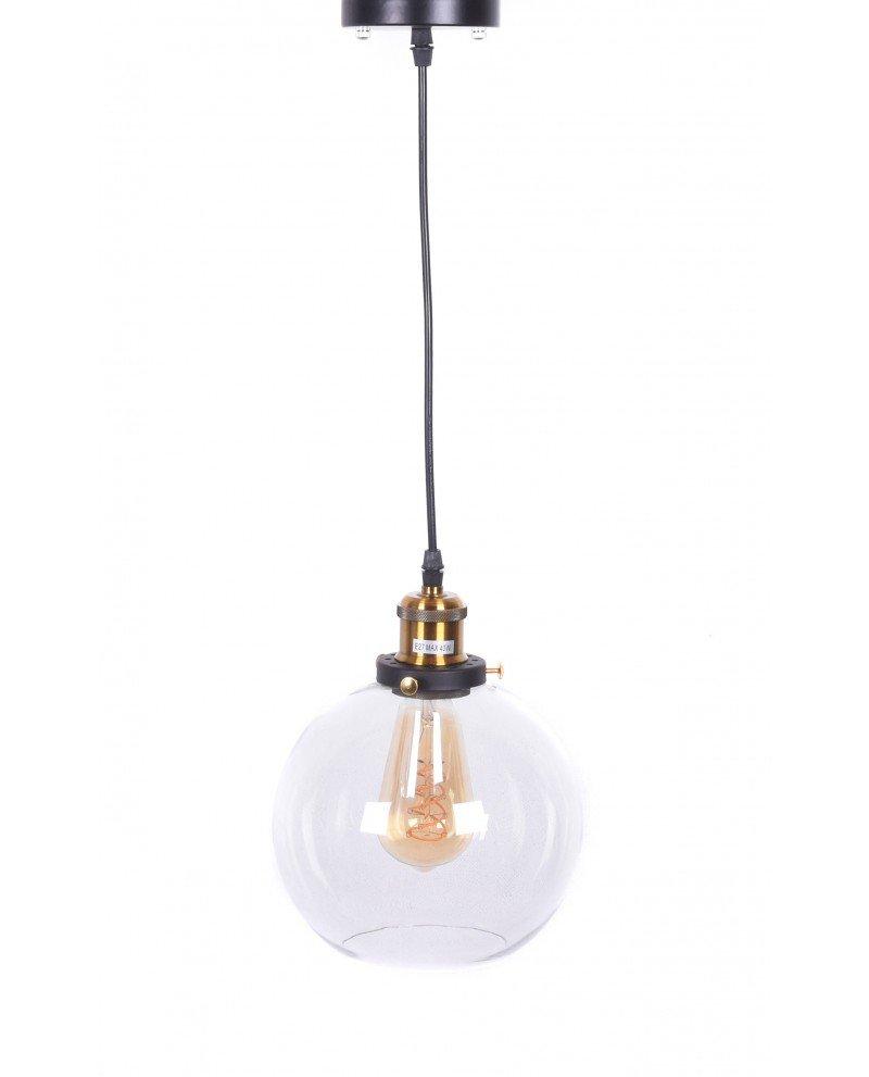 lampadario vintage navarro in vetro trasparente 21 test