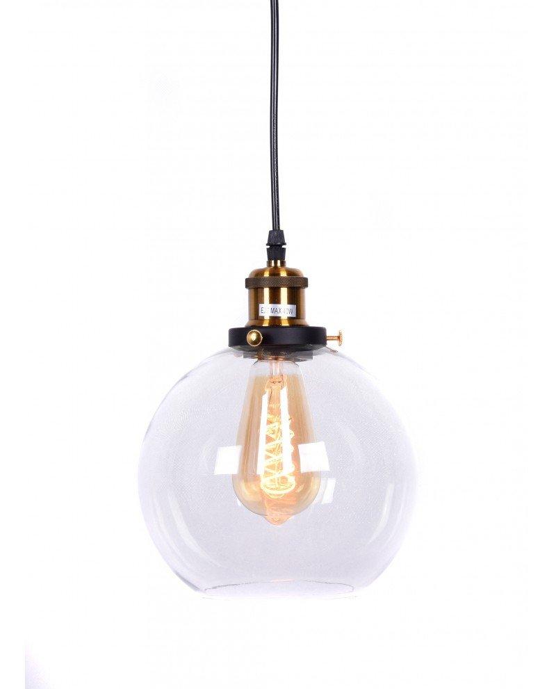 lampadario vintage navarro in vetro trasparente test