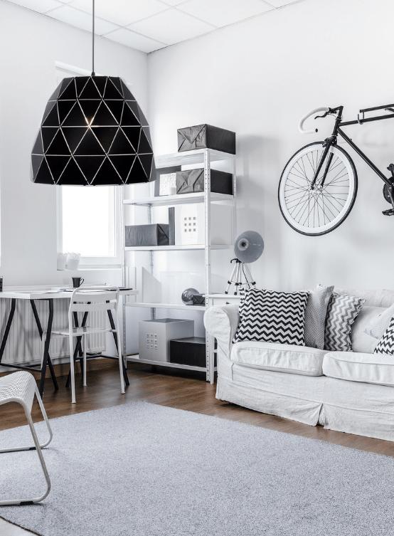 lampade nere in metallo design moderno
