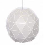 lampade a palla metallo bianco