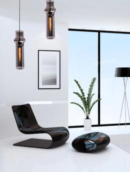 lampade salotto design vetro grigio fumo