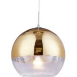lampade a sospensione sfera oro