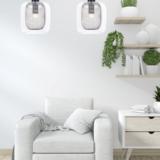 lampade sospensione in vetro trasparente di design