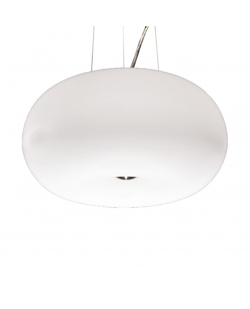 plafoniera moderna da soffitto bianca Fermino d 38