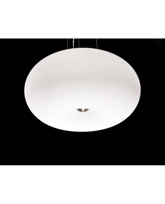 plafoniera moderna da soffitto bianca Fermino d 45
