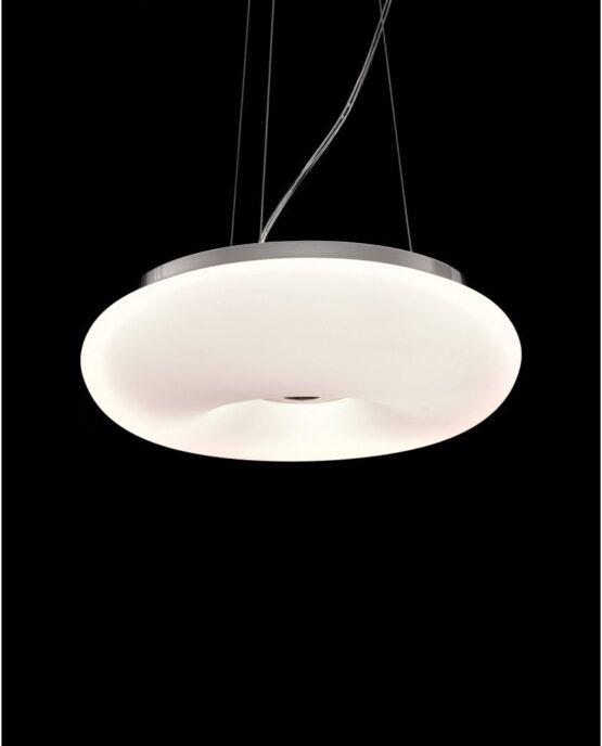 plafoniera moderna in vetro in stile