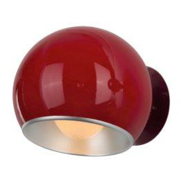 Applique a muro anni 60 design color Rosso Aurora