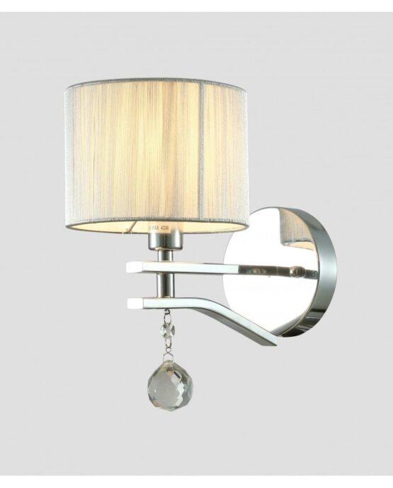 Applique elegante lampada a parete classica cromata FENTENA