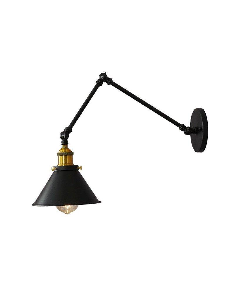 Lampada da parete vintage industriale con braccio flessible GUBI W2 test