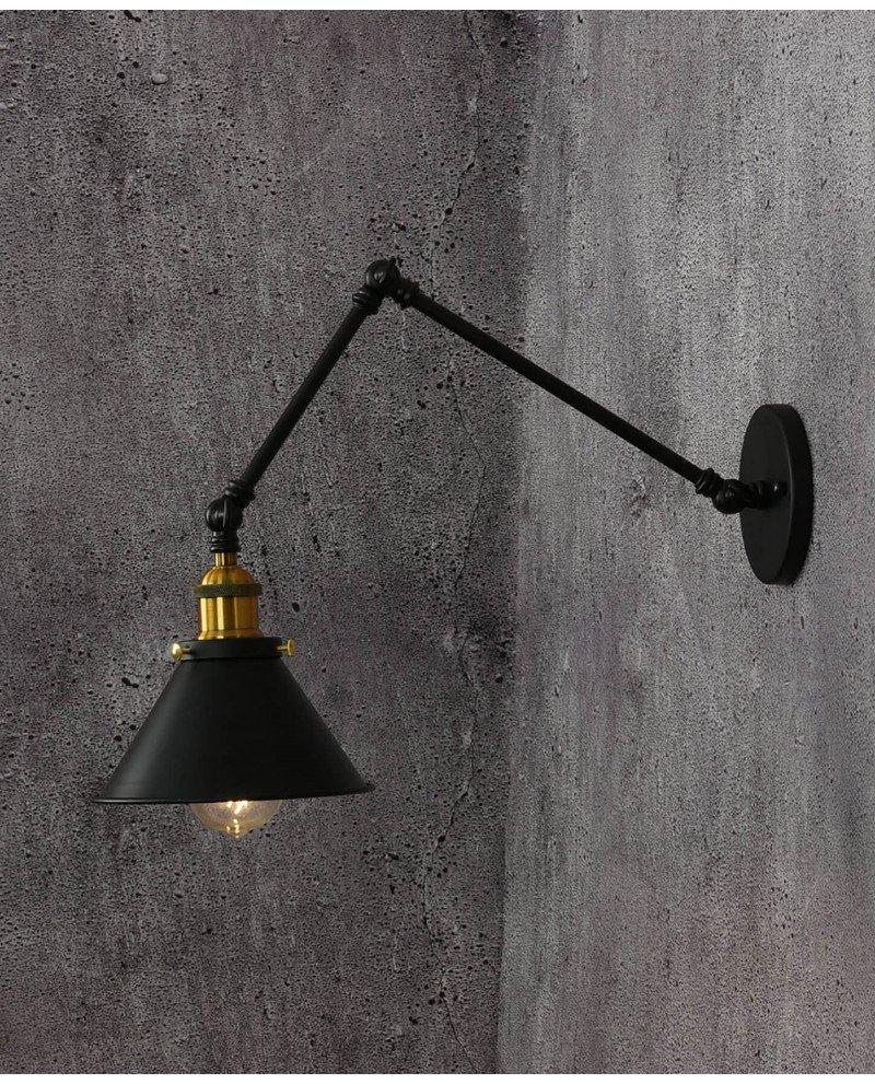 Lampada da parete vintage industriale con braccio flessible GUBI test