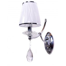 lampada da parete classica ed elegante con paralume in vetro
