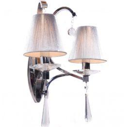 lampada a parete due luci classica