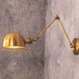 lampada a muro per ufficio con braccio allungabile stile vintage industriale