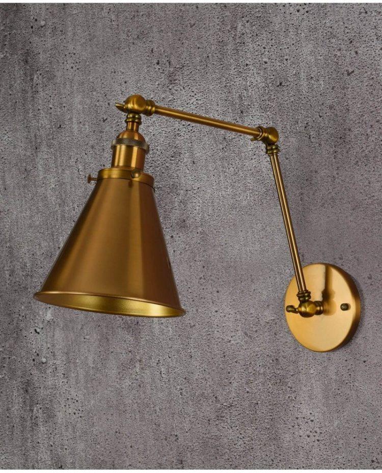 lampada a parete steampunk vintage industriale