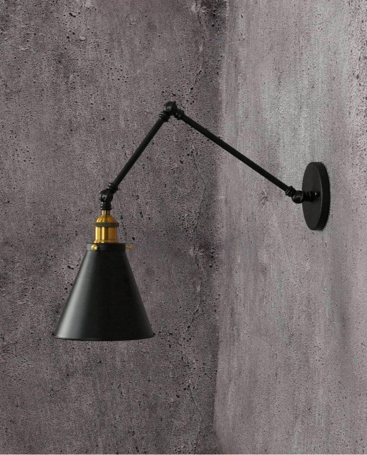 lampada da parete industriale da interni