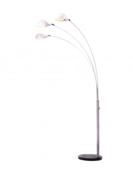 piantana a braccio tre luci con base in marmo per arredare gli interni