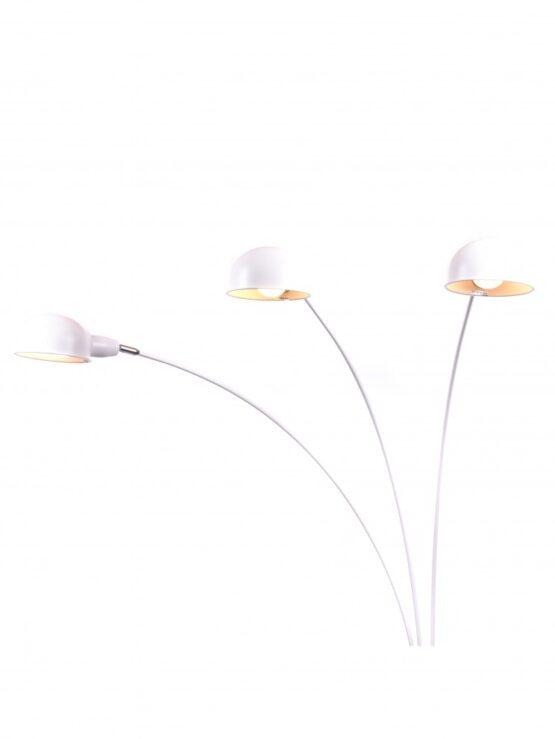illuminazione arredo casa piantana con base in marmo di colore bianco