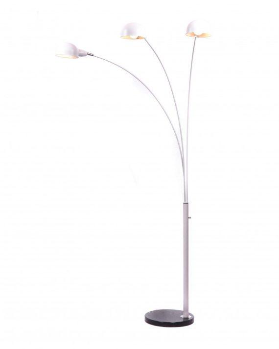 lampada da terra con braccia led e base in marmo