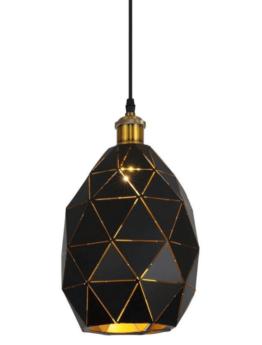 lampada a sospensione moderna nera con porta lampada otton
