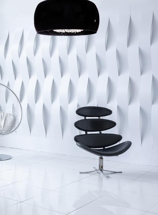 lampadario design moderno nero con cristalli