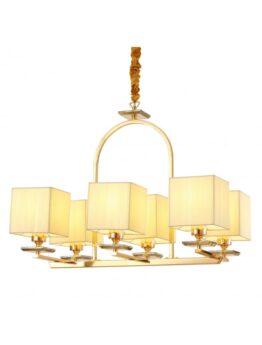 lampadario salone moderno oro ottone