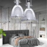 lampada industriale vintage soffitto camera da letto