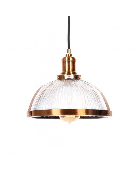 lampade vintage vetro e ottone