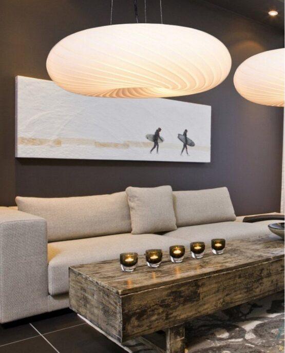 lampadario moderno a sospensione da salotto