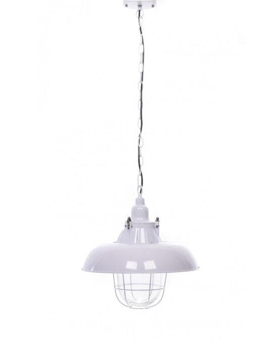lampada industriale bianca da soffitto