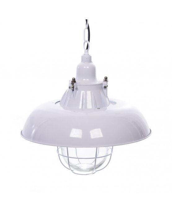 lampada industriale da soffitto bianca