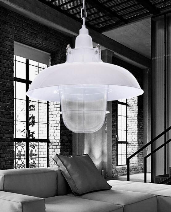lampada vintage industriale bianca