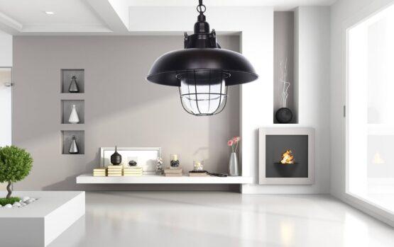 lampade a sospensione stile industriale nere