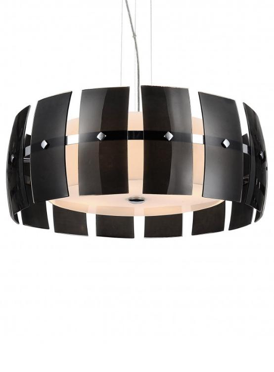lampadario nero moderno a soffitto