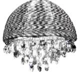 lampada alluminio da soffitto