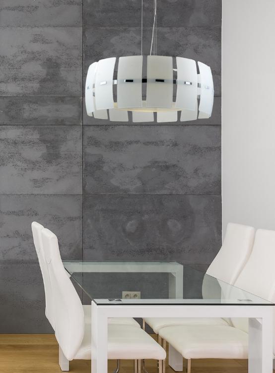 lampada a sospensione bianca moderna