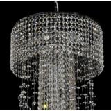 lampada cascata cristalli a sospensione