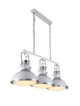 Lampadario sospensione 3 luci design industrial