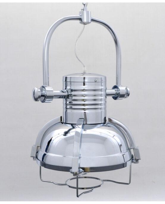 Lampada stile industriale cromata a forma di farlo vintage
