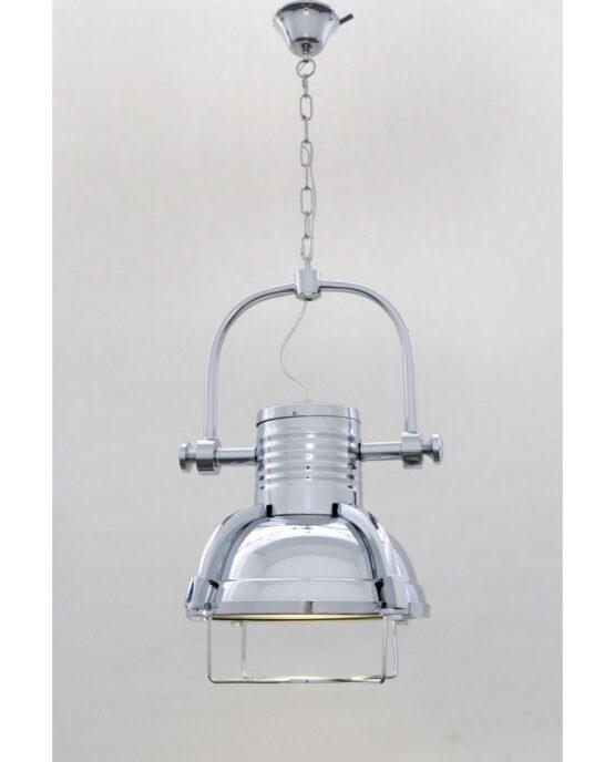 lampada industriale faro con catena cromato