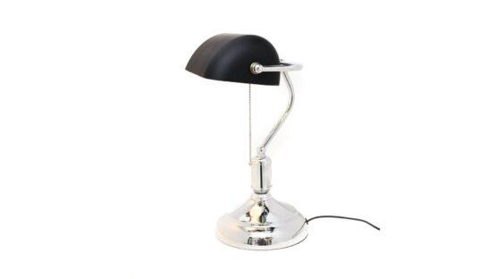 lampada ministeriale nera con paralume orientabile
