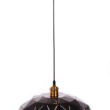 lampada poligonale metallo ner