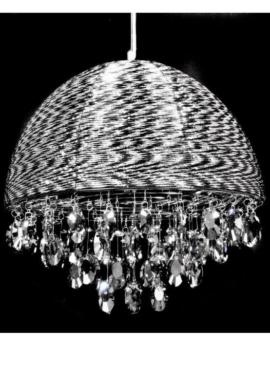 lampade da salotto alluminio con cristalli