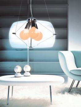 lampada a sospensione in vetro trasparente per per salotto