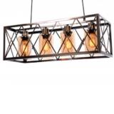 lampada a soffitto industriale ottone a gabbia di metallo