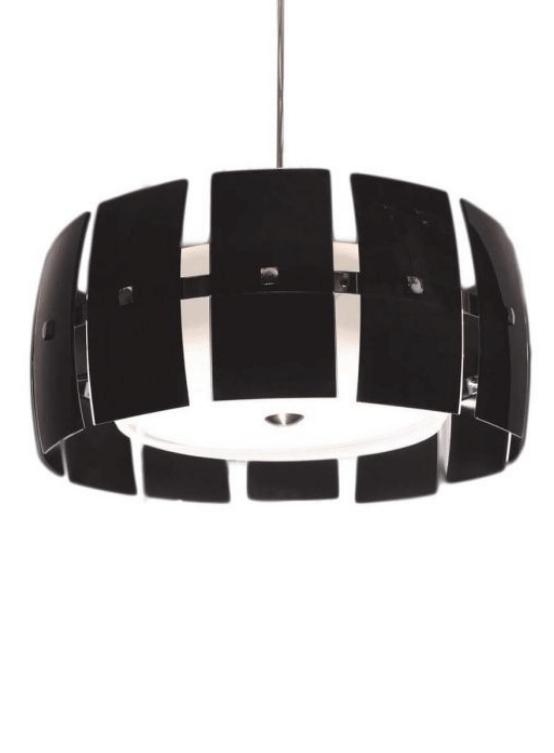 lampada a sospensione nera moderna