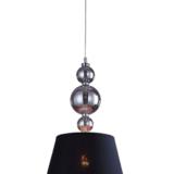 lampada a soffitto con paralume in tessuto nero
